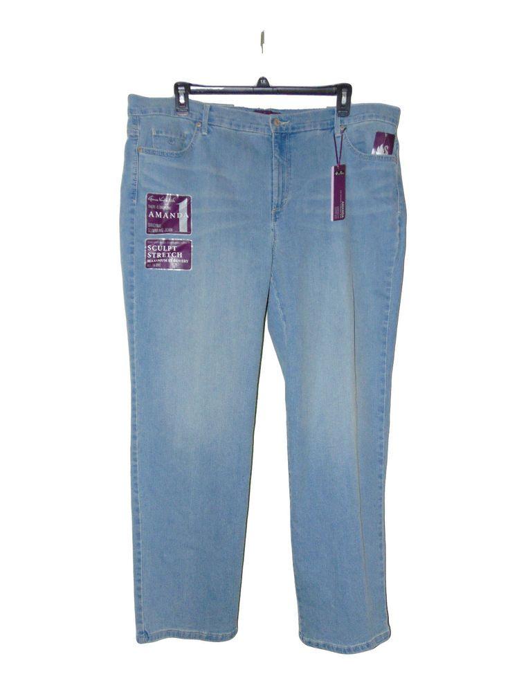 1b4fba473e7 Gloria Vanderbilt Amanda Jeans Size 22 W Sculpt Stretch Nwt   GloriaVanderbilt