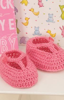 T-Strap Booties Crochet Pattern