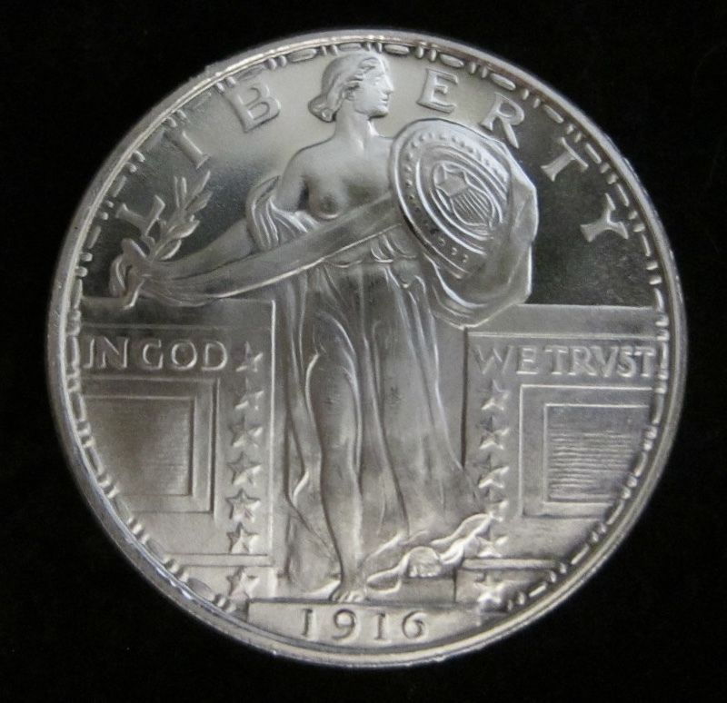1 Oz 1916 Standing Liberty Silver Round 999 Pure One Troy Ounce B U Gems 11 Coins Amp Paper Money Bullion Silve Pure Products Silver Rounds Pure One