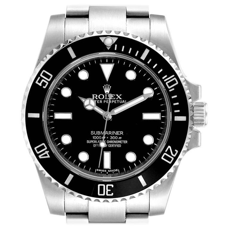 Rolex Submariner Ceramic Bezel Oyster Bracelet Steel Men's Watch 114060 #rolexsubmariner