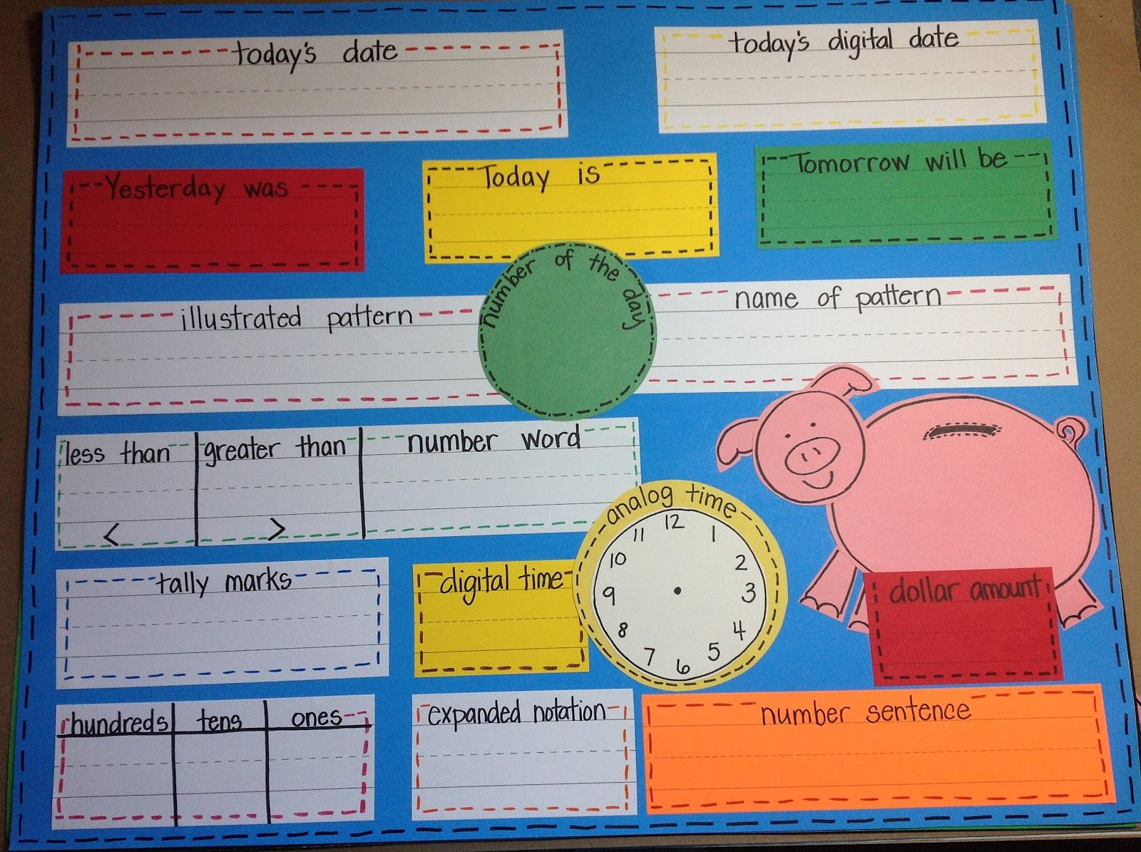 Calendar Math Love This It S Small Enough That It Doesn T Need An Entire Bulletin Board