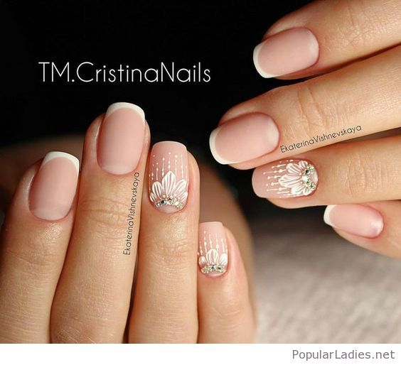 Bridal Nail Art, Wedding Nails Art, French Nail Art, 3d Nails Art, Simple  Nails, French Manicures, Nail Art Designs, Nails Design, Art Ideas - Pin By Anna On Nail Design Pinterest French Nail Art, French
