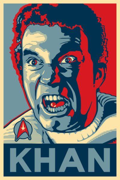 Obama Hope style poster - Khan | Nope | Pinterest | Star ...