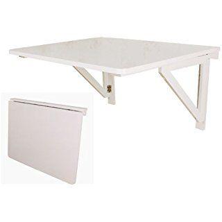 SoBuy® Tavolo da muro pieghevole in legno 75*60cm, senza sedia, due ...