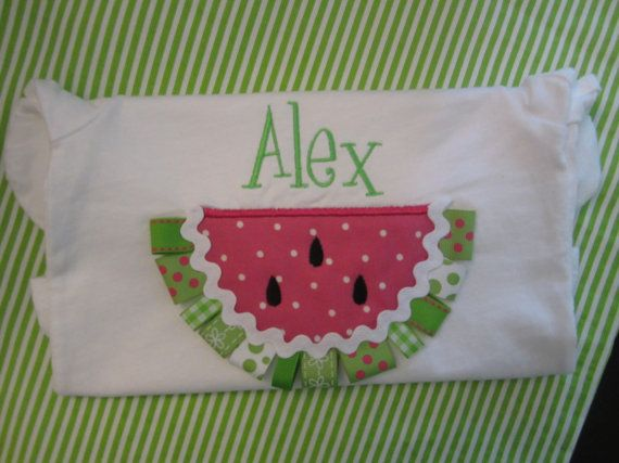 Personalized Watermelon Applique TShirt  by MerryBmonogramming, $24.00