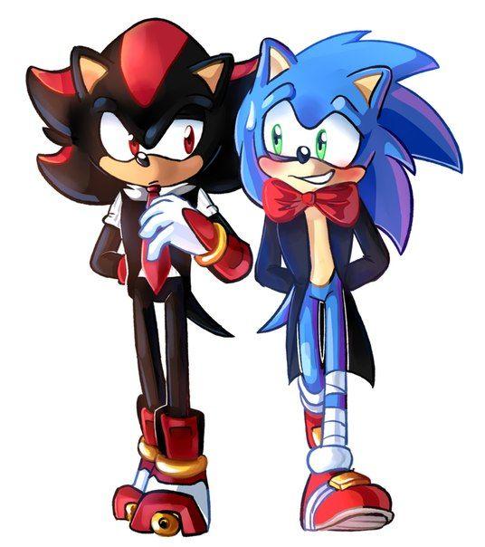 Shadow sonic sonadow shadow the hedgehog sonic el - Sonic et shadow ...