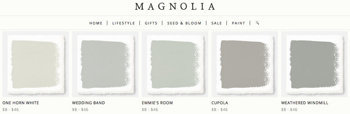 Joanna Gaines Magnolia Home Paint Line One Horn White Wedding
