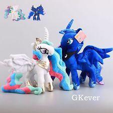 2X Princess Celestia & Luna Nightmare Moon Plush Toy Doll 12'' My Little Pony