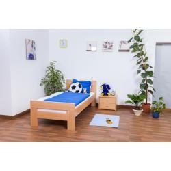 Photo of Kinderbett / Jugendbett Easy Premium Line K2, Buche Vollholz massiv Natur – Maße: 90 x 190 cm Steine