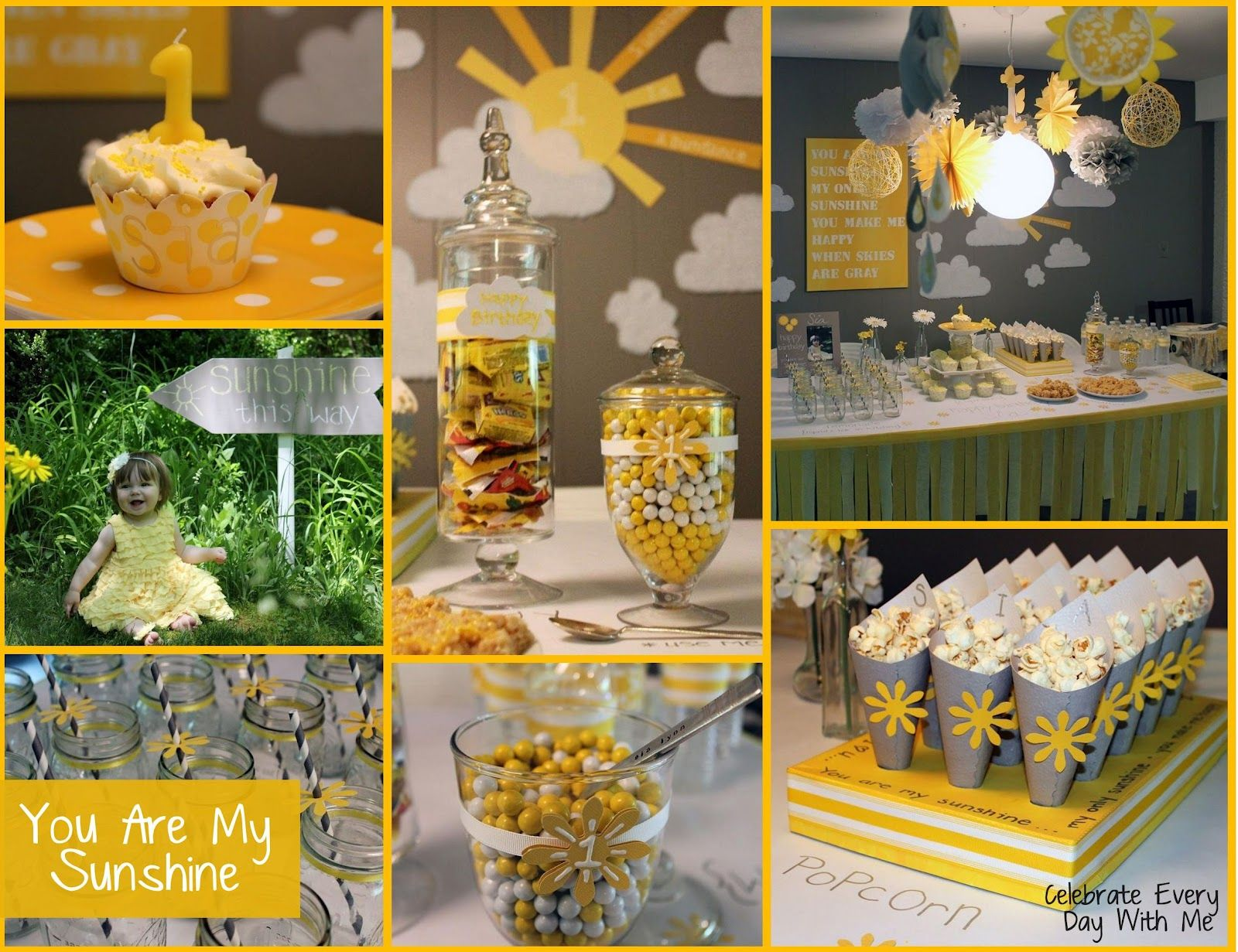 Baby Shower Ideas You Are My Sunshine ~ You are my sunshine party celebrate every day with me celebrate