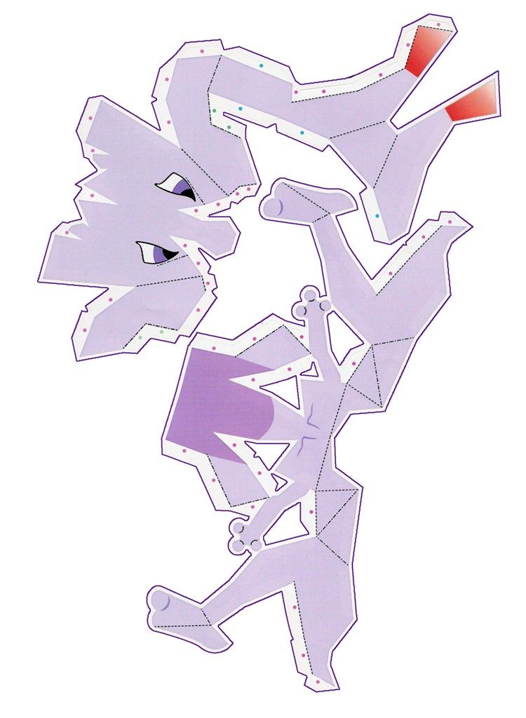 Pokemon Papercraft Print Outs | Mewtwo - /po/ Archives | Paper ...