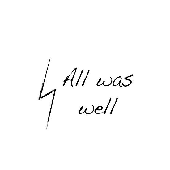 Harry Potter All Was Well By Emmabunclark Harry Potter Tattoos Harry James Potter Harry Potter