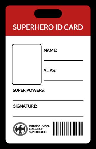 Superhero Id Card Fun Kids Craft Id Card Template Superhero Hero Crafts