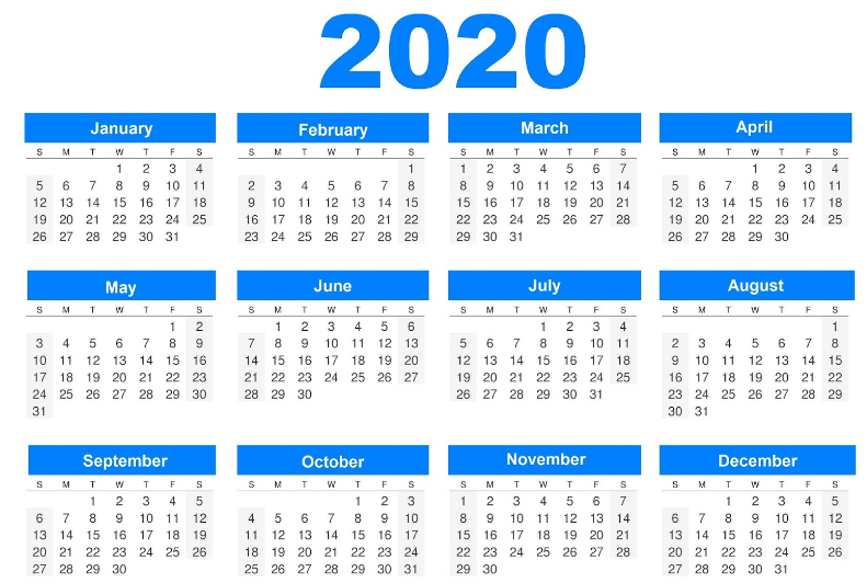 2020 Printable Calendar Cute Calendar template