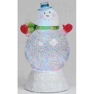 From The Glitterdomes Collection Item 35556 Globes Are Filled Wit Decorating With Christmas Lights Christmas Snowman Light Decorations