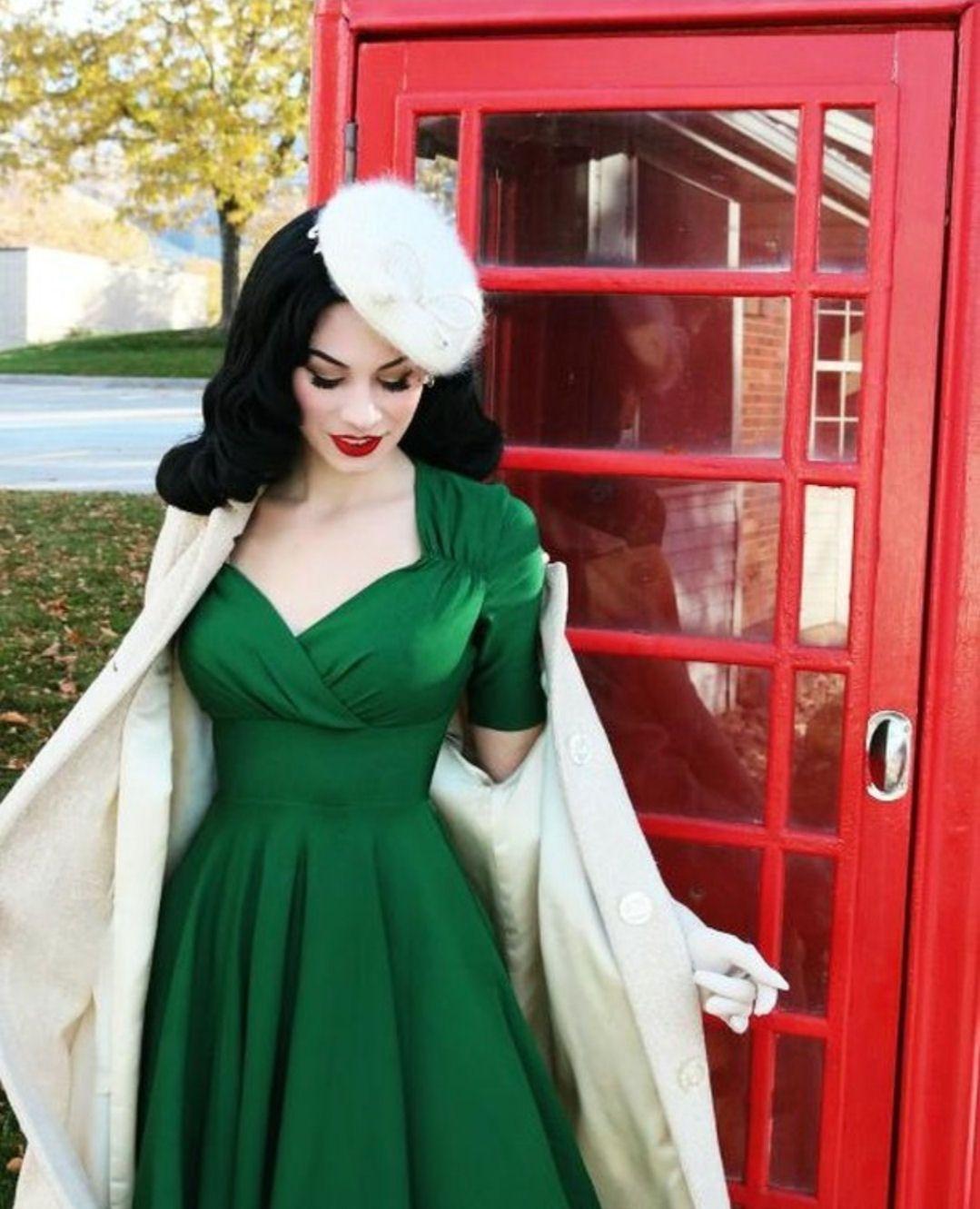 Green 3 4 Sleeve Full Swing Skirt 50 S Dress Rockabilly Style Dress Rockabilly Dress Swing Dress 50s [ 1331 x 1079 Pixel ]