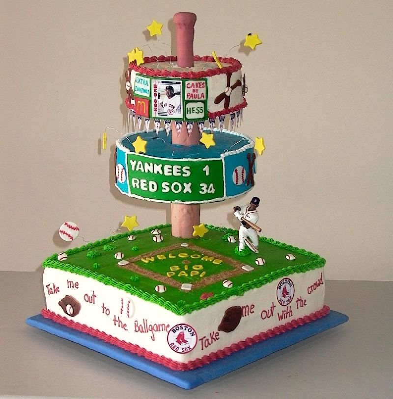 Awesome idea for a baseball themed birthday partyof course mine