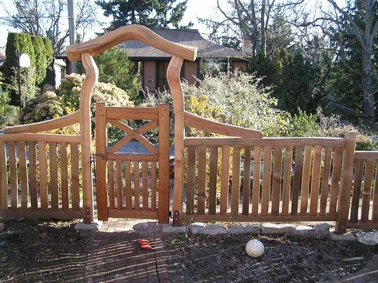 garden gates and fences. Rustic Entrance Gates Fences   Garden / Rustic, Cedar Entry Gate And Fence. A