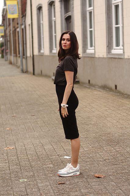 ea3c1ec10e Business Casual in Pencil Skirt and Nikes NNNNNNEVVVVVERRRRRRRRRRRRRRRRRR