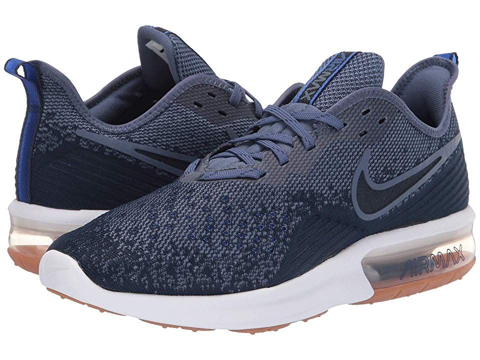 9550069ecf Nike Air Max Sequent 4 (Midnight Navy/Obsidian/Diffused Blue) Men's Running  Shoes. The lightweight feel easy flexibility and cushioned support of the  Nike ...