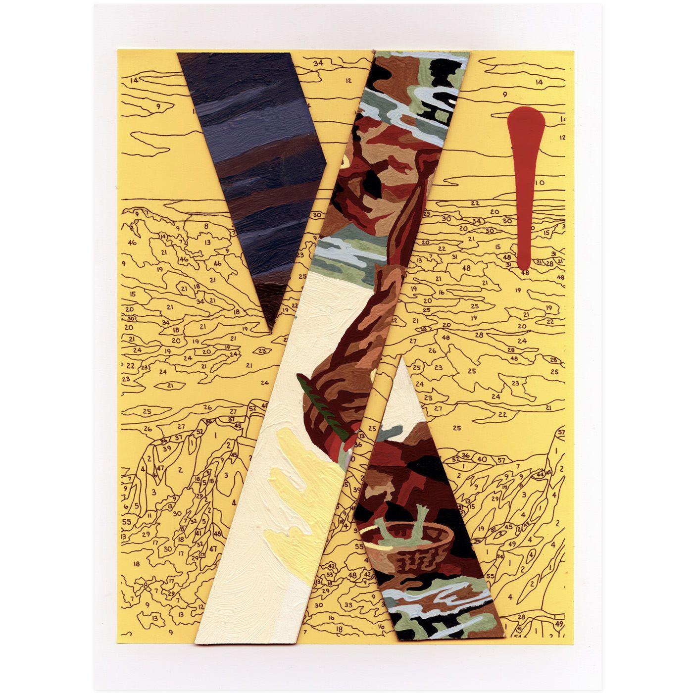 Trey Speegle Letter Series - Yellow X | Chic Chalet | Pinterest
