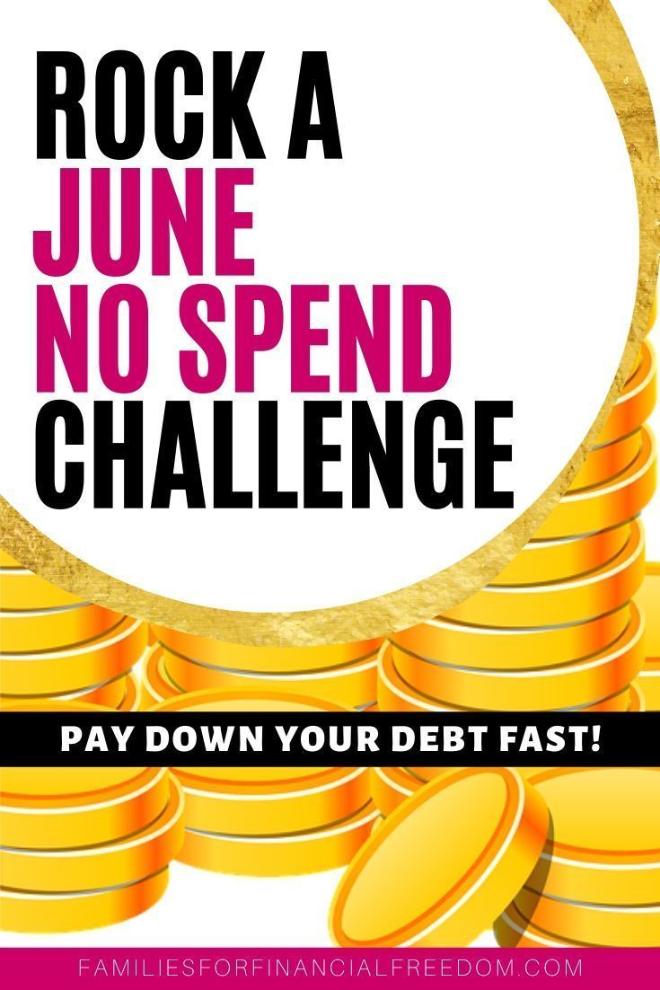 Do a June no spend challenge to pay off debt or save money fast for summer vacation! These are great tips for a no-spend challenge! Best ideas for doing a no spend challenge! Find no spend rules to save money and pay off debt! Do 30 day no spend challenge for a no spend month! Awesome no spend challenge motivation! Learn no spend tips! Awesome money saving challenge! How to do a no spend challenge! #nospendchallenge #nospendmonth #personalfinance #nospendchallenge30day #savemoney