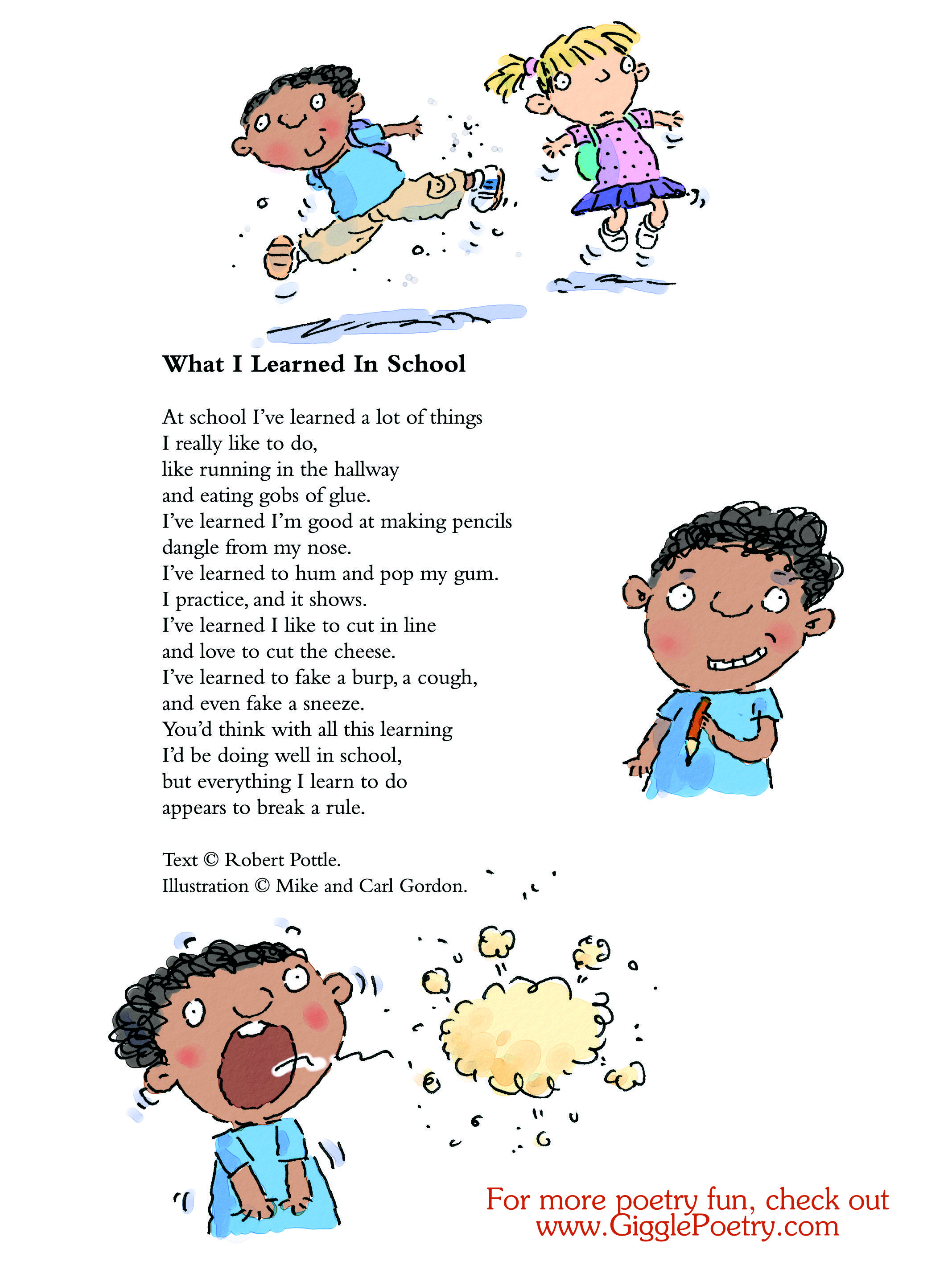 What I Learned In School A Poem By Robert Pottle