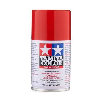 TAMIYA 85086 Spray Lacquer TS86 Brilliant Red 3 oz