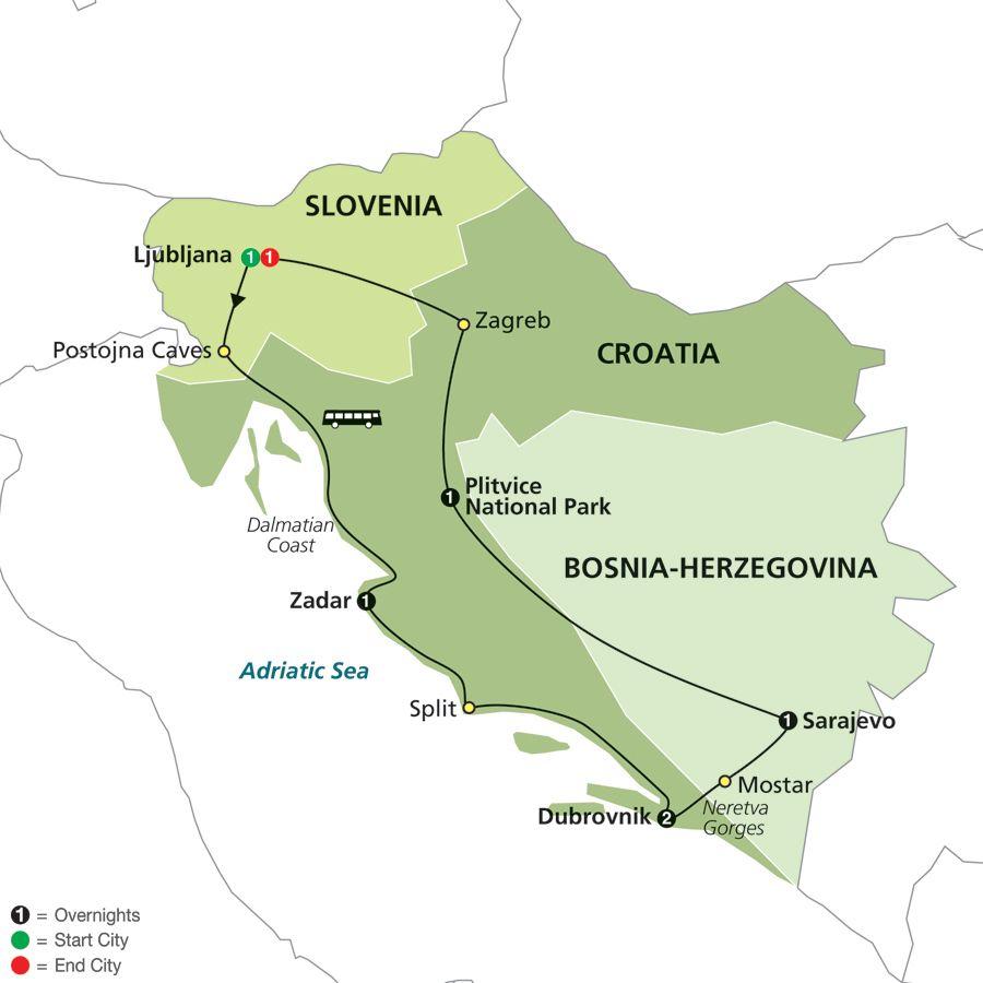 Croatia Route Croatia Tours Croatia Europe Tours