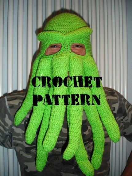 PDF Crochet Pattern - Cthulhu inspired ski mask - picture tutorial ...