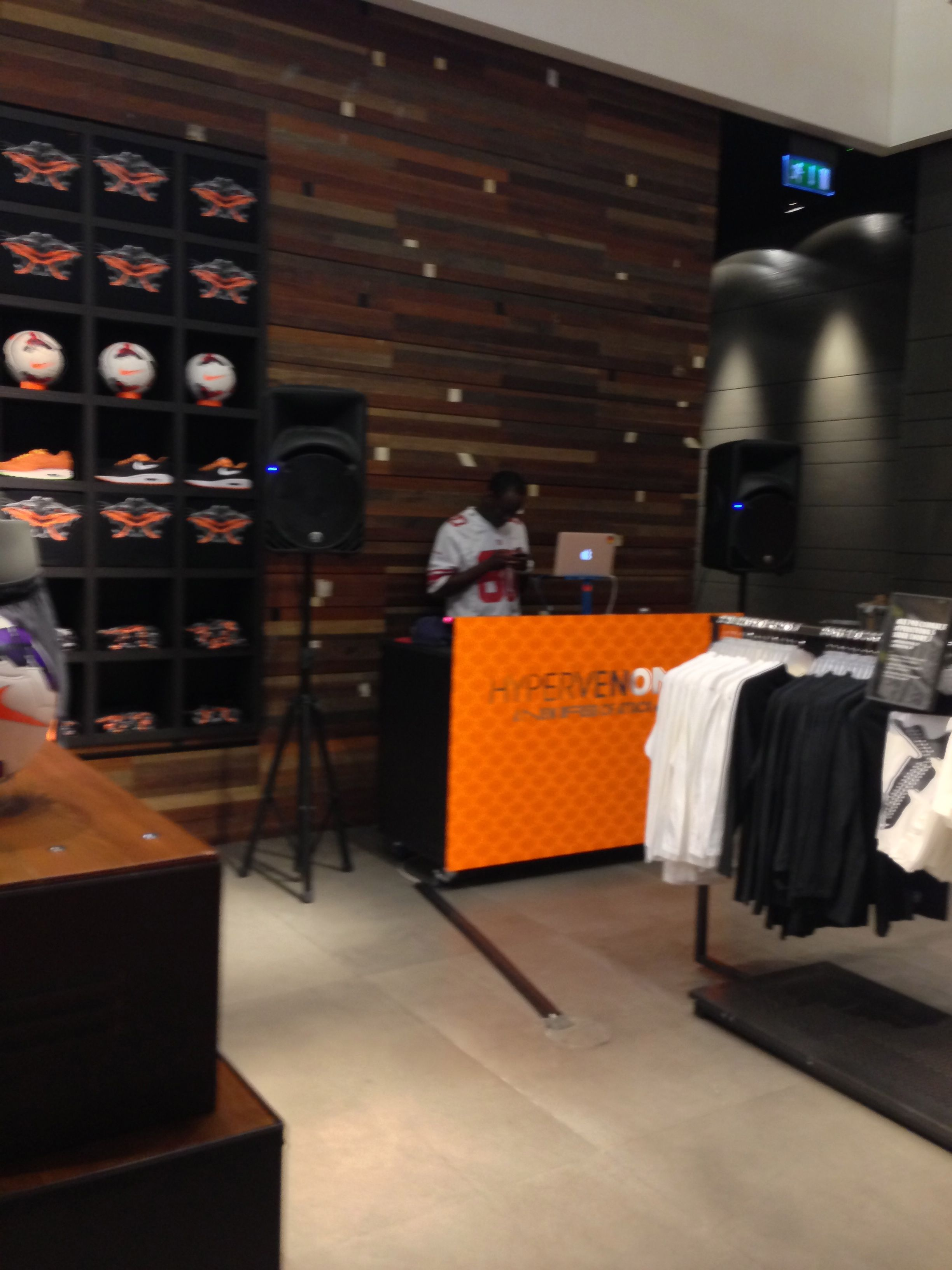 Niketown LONDON had it's very own DJ today.