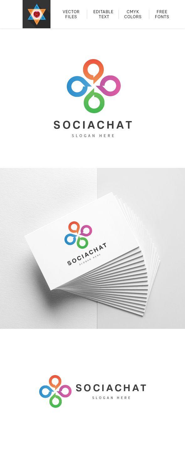 Social Media Chat Logo Vector Customizable High Quality