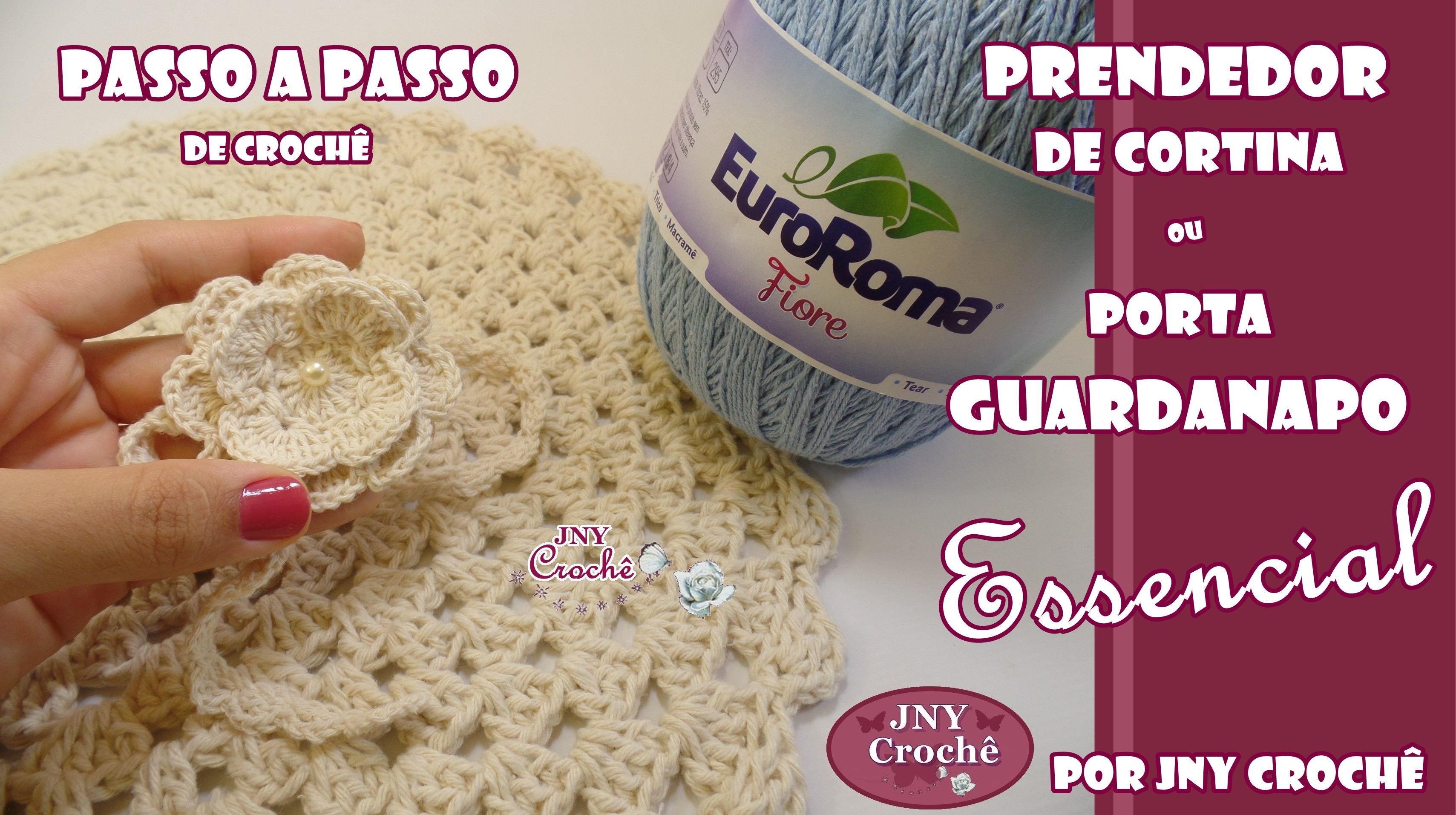 PAP Porta guardanapo Essencial > https://www.youtube.com/watch?v=iqsNq4ustx4 Feito com a Flor Rosa, uma linda flor de crochê! Assista a aula e aprenda conosco!