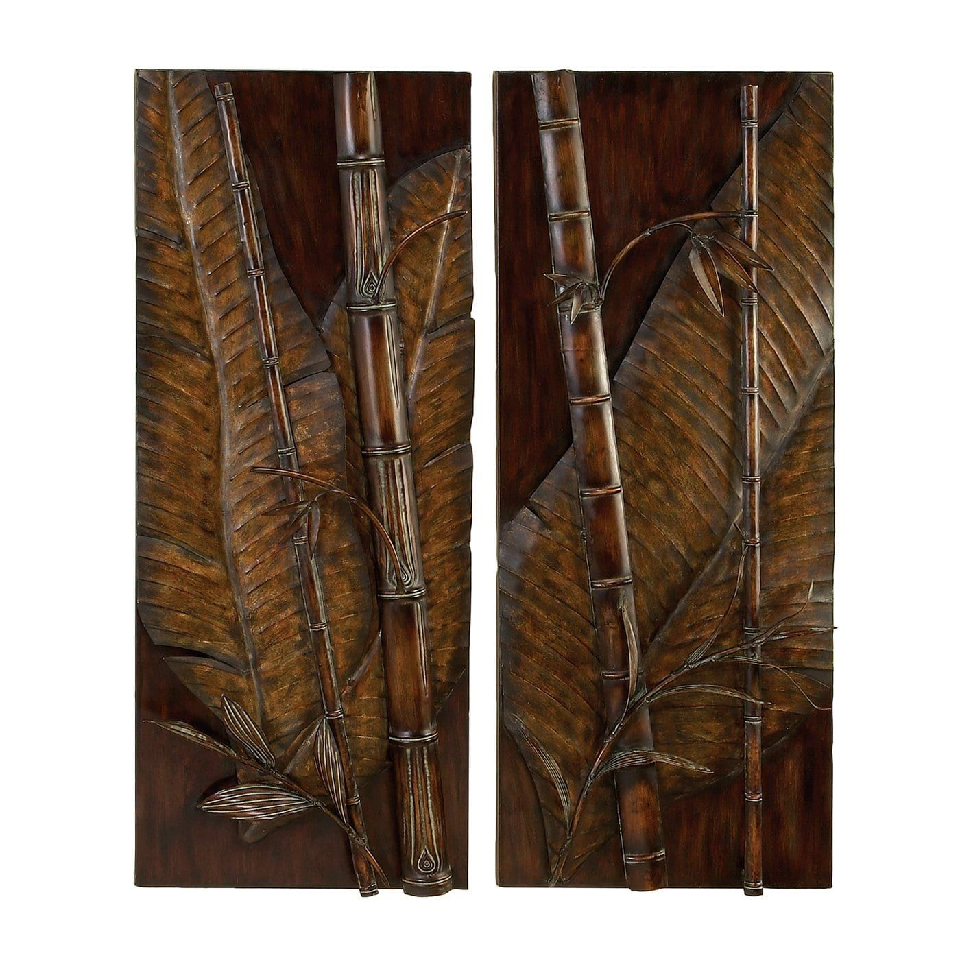 Shop Aspire Home Accents 13036 Tropical Metal Wall Art Set Of 2 At The Mine Browse Our Meta Metal Tree Wall Art Tropical Metal Wall Art Large Metal Wall Art