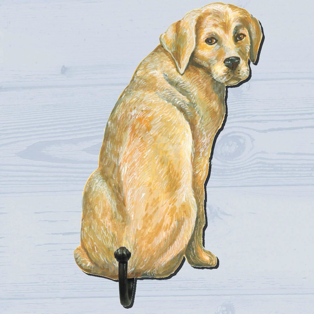 Shaped Golden Labrador Single Wall #Hook. At #www.padblocks.com ...
