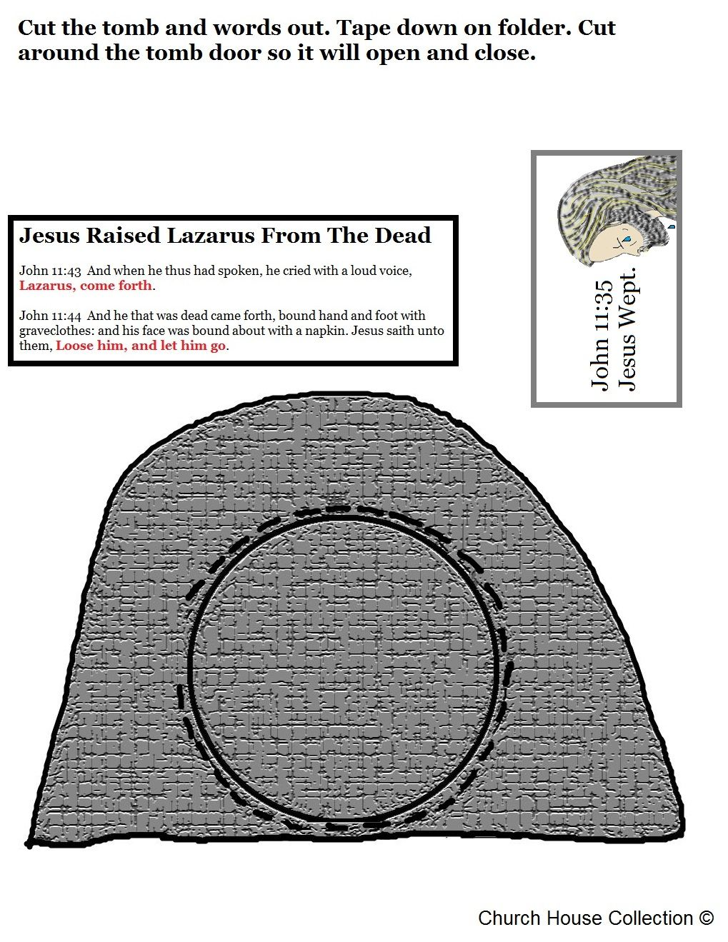 Church House Collection Blog Jesus Raised Lazarus From The Dead Lapbook Craft For Kids In