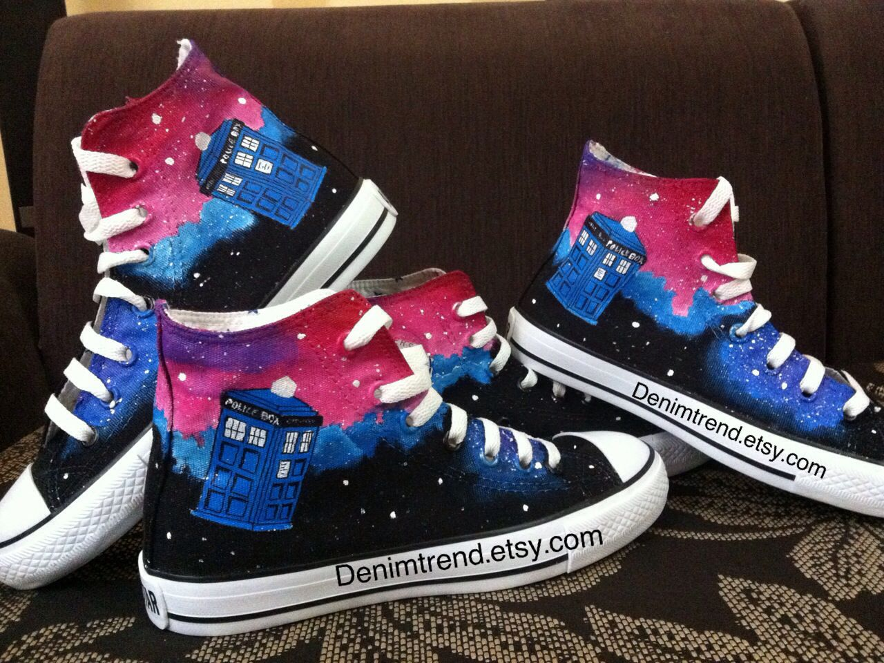3352a5f20ed8 Doctor Who Galaxy Tardis Shoes