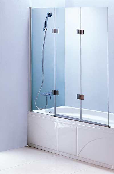 48 X 55 Frameless Bath Tub Enclosure Bath Tub Glass Screen With 3 Panel Folding Swing Door Glass Tub Bathtub Doors Tub Enclosures