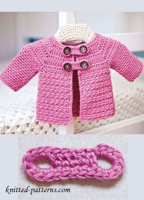 Free Crochet Baby Jacket Pattern | baby patterns | Pinterest ...