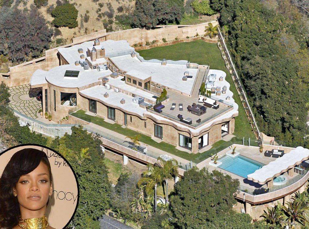 Rihanna From Celebrity Mega Mansions Celebrity Houses Mansions Celebrity Mansions