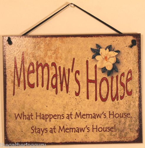 Wall Sign Decor Pleasing Memaw S House What Happens Stays Home Funny Grandma Family Love Design Decoration