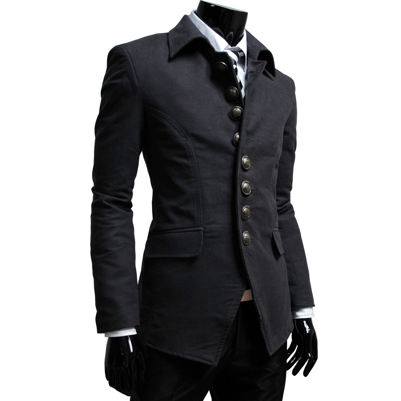 aa3aeb1cb06a5 Mens Luxury 8 Btn Blazer Jacket CHARCOAL