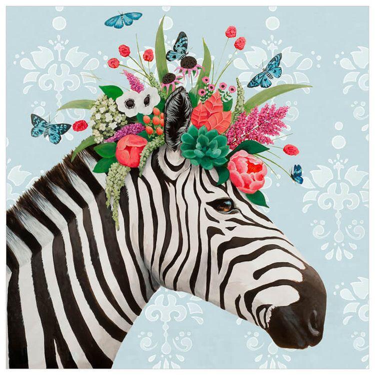 Art collections heather gauthier art zebra art blue