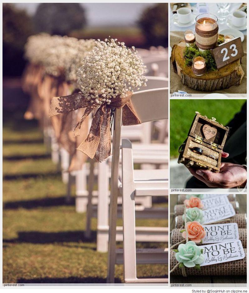 Rustic Wedding Ideas Using Burlap: Wedding Decorations, Hessian