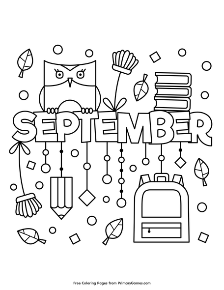 Fall Coloring Pages eBook: September | Bullet journal | Pinterest ...