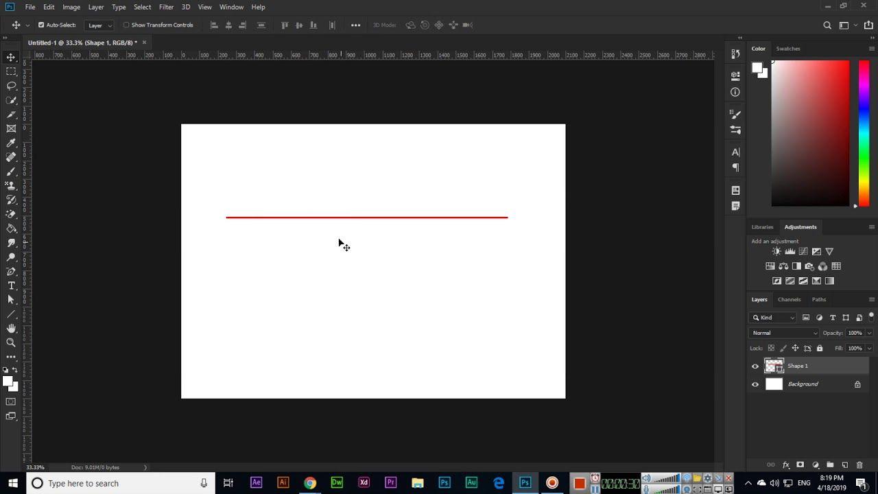 Line Tool Adobe CC 2019 Line tools, Adobe