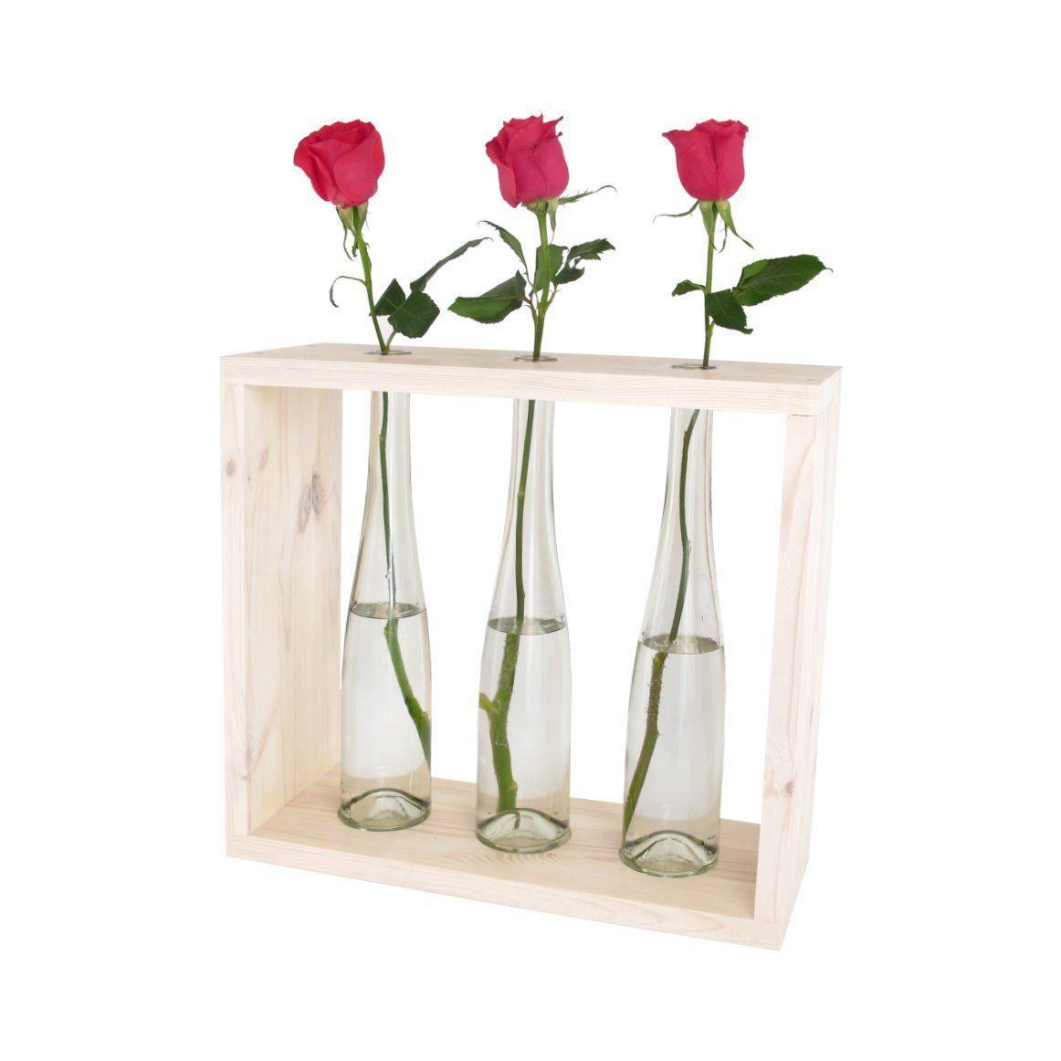 Roza Kwietnik W Artdecoglasseu Na Etsy Glass Vase Decor Etsy