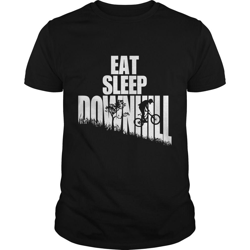 Eat Sleep Downhill Freeride Mountain Bike Mtb T Shirt Cool Design