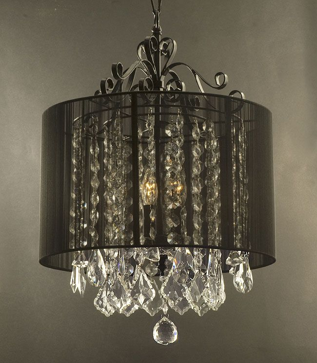 gallery74 F9Black6043 Crystal Chandelier with Shade – Crystal Chandelier with Shade
