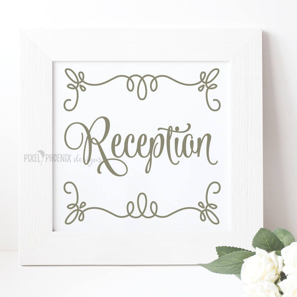 Reception SVG cut file, getting married, bridal, wedding by pixelphoenixdesigns on Etsy